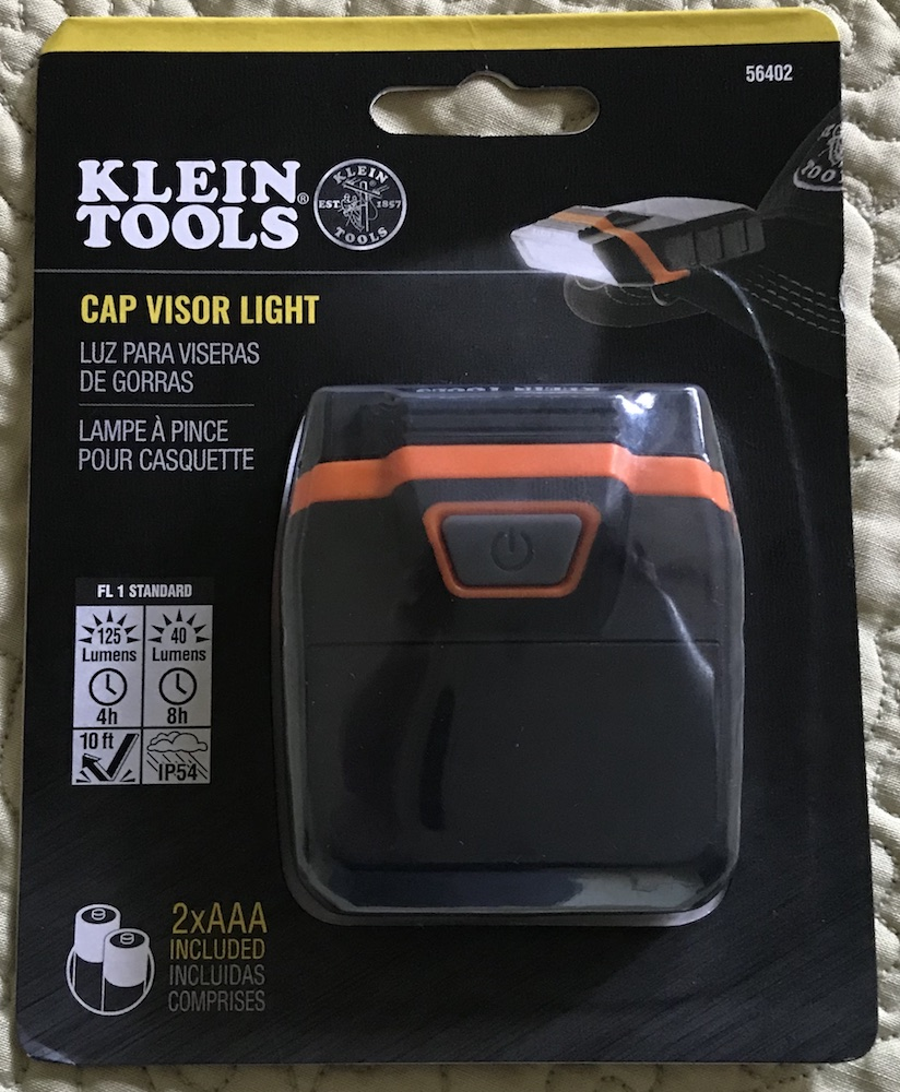 klein led cap visor light blister pack