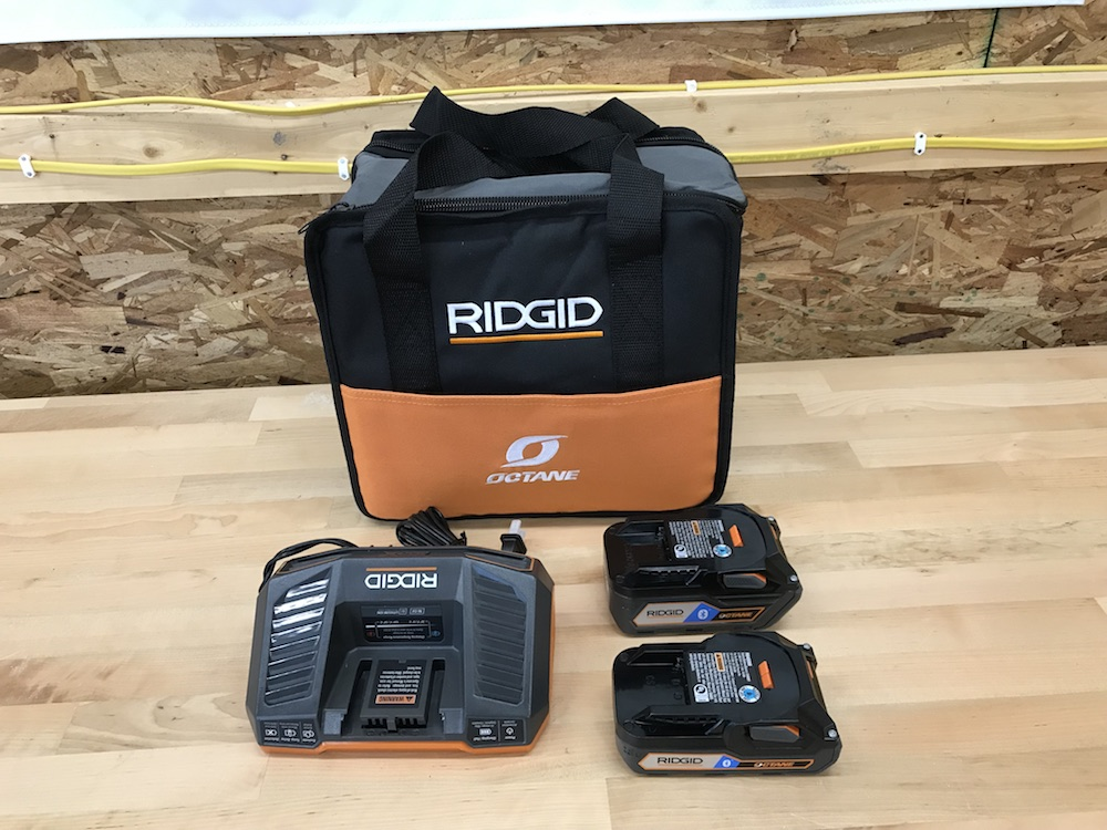 ridgid octane battery starter kit