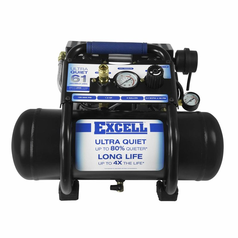 Excell SAC22HPE 2 Gallon Ultra Quiet Air Compressor