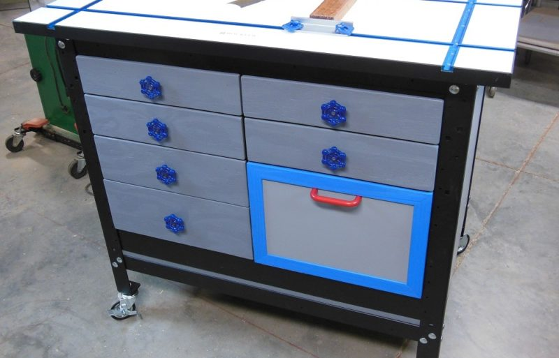 Shop storage drawer cabinet
