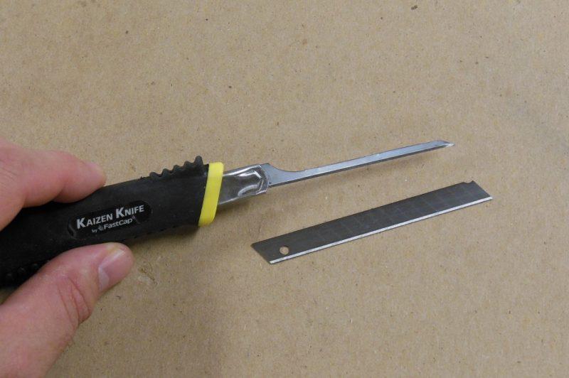 Thin kaizen blades.