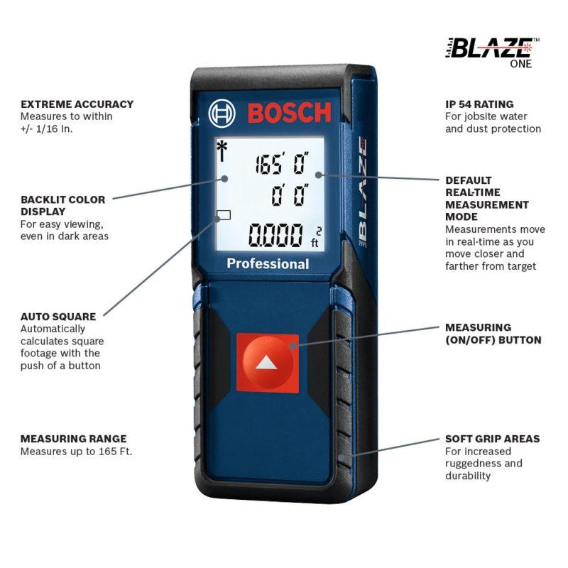 bosch glm165 blaze laser distance measure