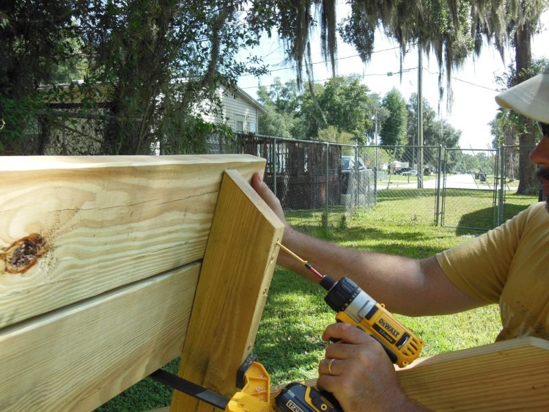 DIY picnic table project.