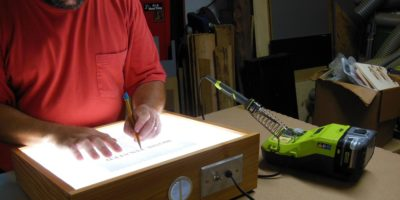 How To Make A Cool Light Table With The Hot New Ryobi 18V ONE+ Hybrid Soldering Station