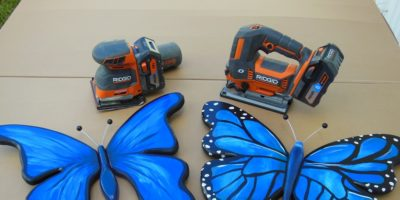 How to Make Wooden Butterfly Wall Art With the Ridgid 18V Octane Jig Saw and ¼ Sheet Sander