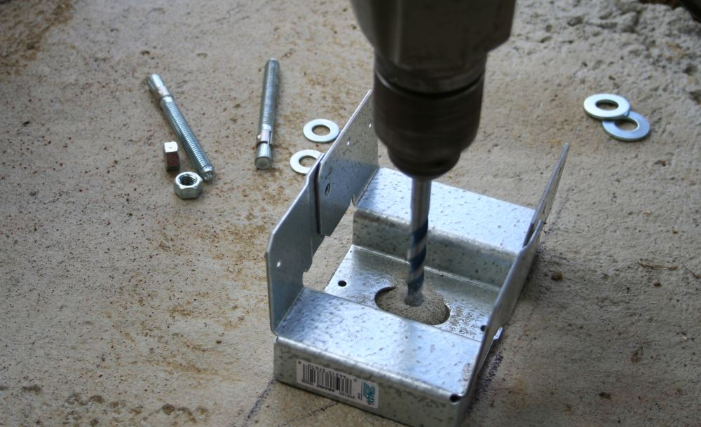setting brackets with bosch blue granite turbo bits
