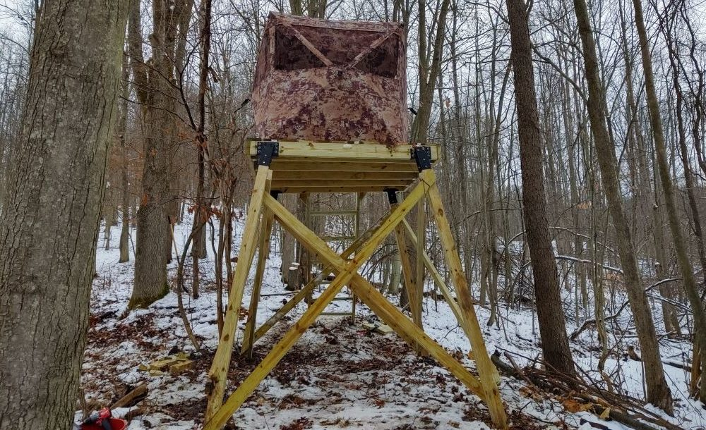 How to Build a Deer Stand Out in the Woods - Starring a Milwaukee Fuel Cordless Combo Kit