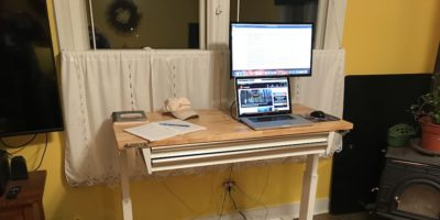 Standing Desk on a Budget – Husky Adjustable Height Work Table