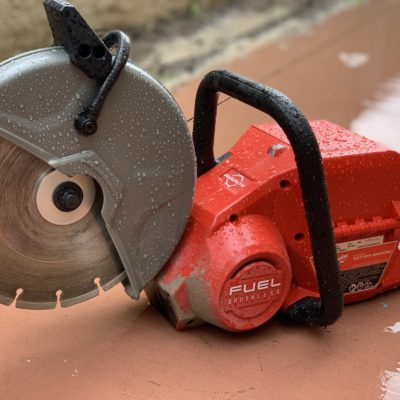 Milwaukee 9″ Cut Off Saw – Cordless Cutting Wet or Dry
