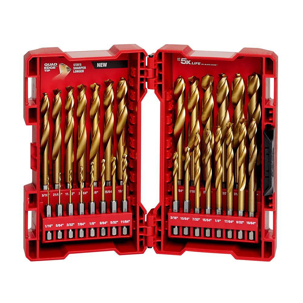 Milwaukee SHOCKWAVE™ Red Helix™ Titanium Bits