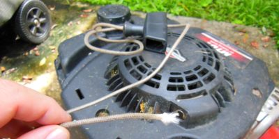 How To Replace A Lawn Mower Starter Cord