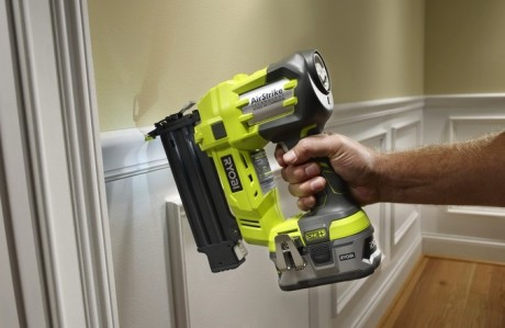 You too can install wainscoting like a pro if you win the Ryobi AirStrike