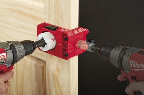 Big red door lock jig
