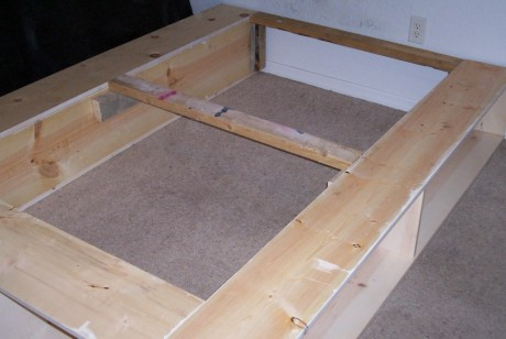 Turn your 2x4's on end if you're really going to be rocking the bedroom