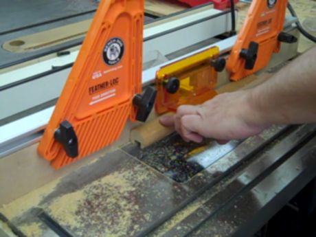 Get in the groove - use a router table to carefully cut a groove for the pencil
