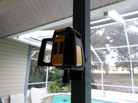 We mounted it to this pole and used it to level a huge sliding glass door & track